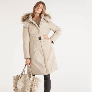 Gerard Darel Jackets & Blazers - Gerard Darel Believe Coat with fox fur hood