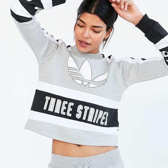 849b8d330 Adidas Sweaters | Three Stripes Sweatshirt | Poshmark