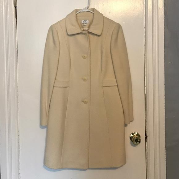 LOFT - Ann Taylor Loft Cream Coat, Size 2 Petite from Kati's ...