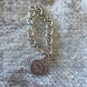 Tiffany & Co. Jewelry - Tiffany £ Co., heart chain bracelet