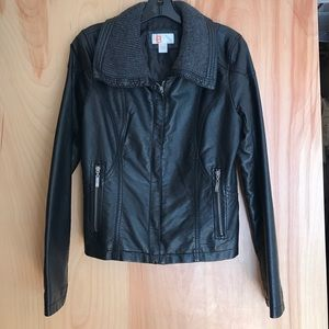 Faux leather jacket size S