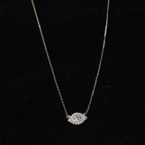 Jewelry - Tiny Diamond evil eye pendant on 14K Gold chain