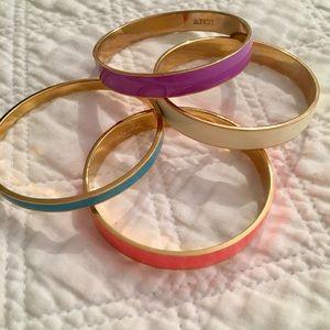 J.Crew Enamel Bangle Bracelets - set of 4