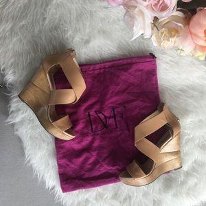 Diane von Furstenberg Shoes - Tan DVF Opal Wedge Sandals