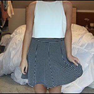 Moa Moa Dresses & Skirts - NWOT navy and white checkered skirt