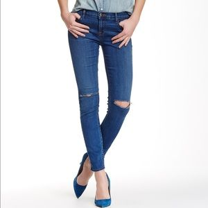 J brand skinny leg mid rise jeans