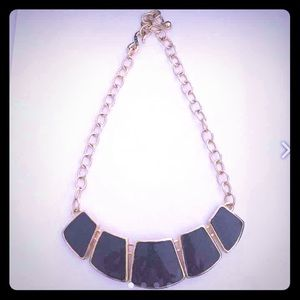 Black & Gold Staple Necklace