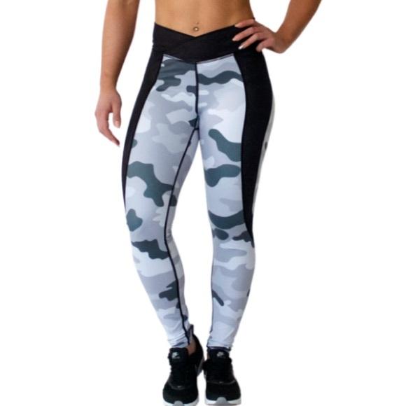 White Camo Leggings - Trendy Clothes
