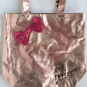 Betsey Johnson Rose Gold Large Tote Bag