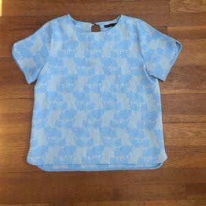 Zara Light Blue top