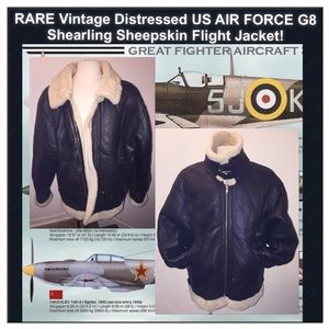 8f52b30ac Vtg Men AIR FORCE G8 Shearling Flight Jacket