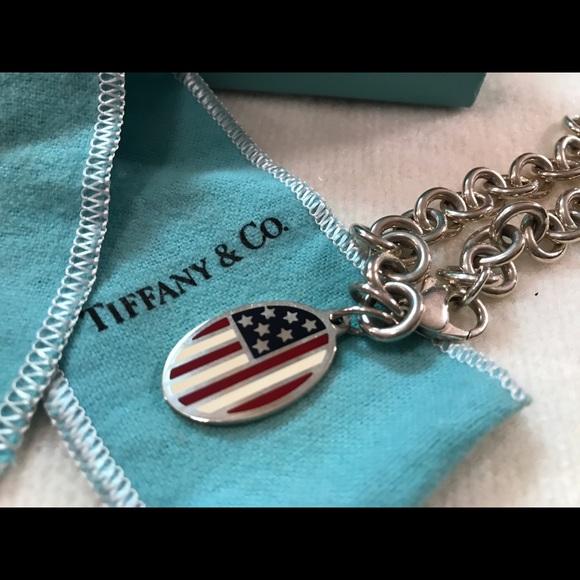 4e5b1c4859e0a Tiffany & Co. American Flag Charm Bracelet-Rare!