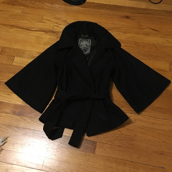 Guess - Black wool Guess pea coat. Size extra small. from