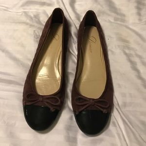 Delman Shoes - Purple quilted flats- Delman size 8
