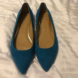 Blue BR pointed toe flats- size 7.5