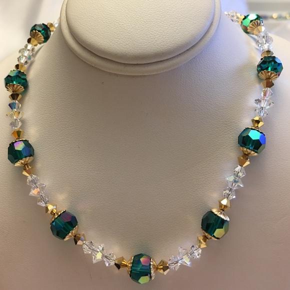 41ea5d24b0b Swarovski Emerald Green Crystal Necklace