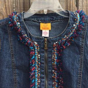 Ruby Rd embellished denim jacket
