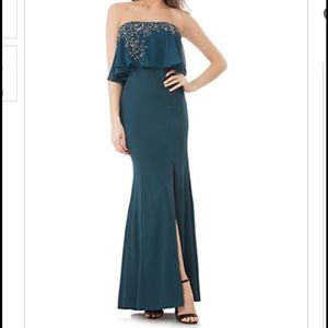 JS Collections Dresses & Skirts - Js collection green popover gown