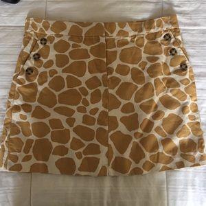 J. Crew Dresses & Skirts - J. Crew Skirt, Animal Print, Size 8