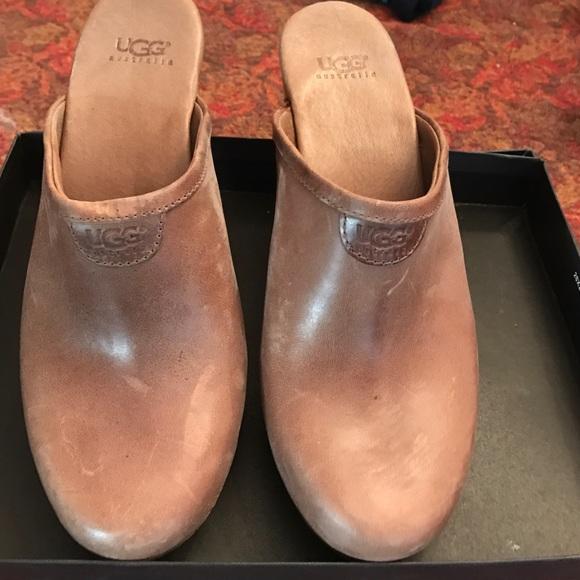 a4e578e2d5 UGG Shoes | New Leather Clogs With Wood Heals | Poshmark