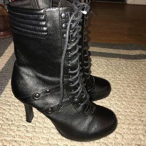 Bliss Shoes - ✅💕SALE💕Black lace up boots with zipper on side