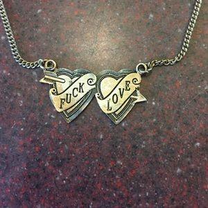Jewelry - UO Fuck Love necklace