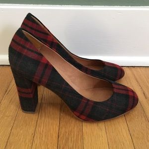 J.crew factory plaid pumps