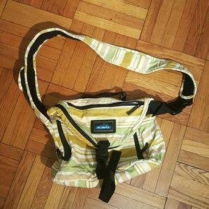 KAVU Handbags - Yellow  Green Striped Kavu Messenger Bag