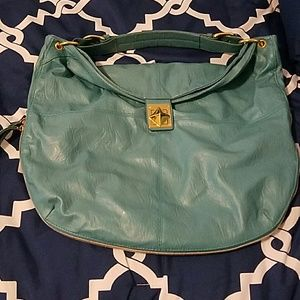 Mark by Avon  Handbags - Turquoise Handbag with Zipper Expansion