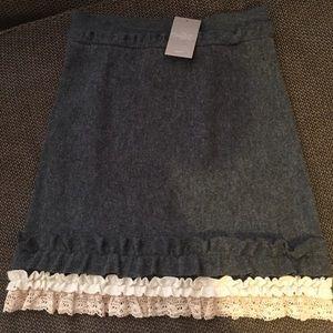 Anthropologie wool skirt, size medium