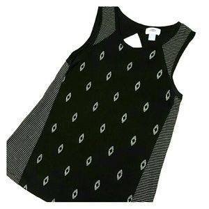 Old Navy Open Back Swing Tank, Small B&W