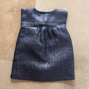Baby GAP metallic shift dress
