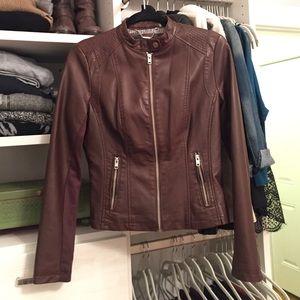 Black Rivet Jackets & Blazers - Brand new chocolate brown leather jacket