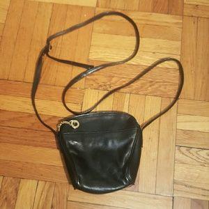 Perlina Handbags - Vintage Black Leather Perlina Purse