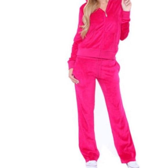 Ambiance Pants Pink Velour Sweatsuit Poshmark