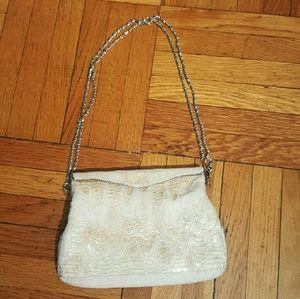 Genie Handbags - Vintage Gorgeous Glass Beaded Purse