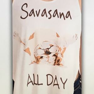 Tops - 👟White yoga👟 savasana tank