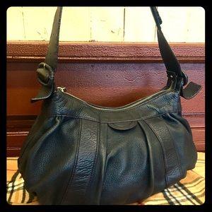 Cole Haan Handbags - COLE HAAN Black Pebbled Leather Shoulder Bag