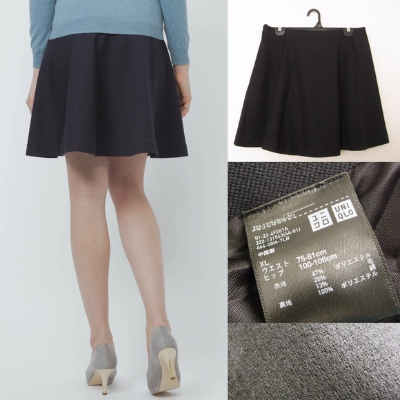 1584a6df1 Uniqlo Skirts | Black Ponte Circle Skirt | Poshmark