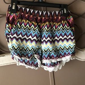 Imperial Star Other - Super cute tribal print lace shorts