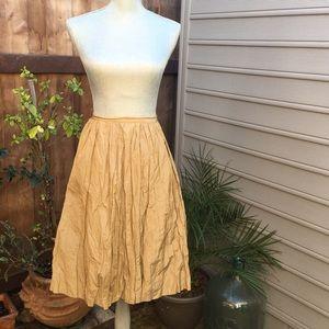 Ports 1961 Dresses & Skirts - PORTS 1961 Gold Crinkle Skirt 😍