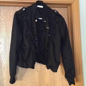NWOT Black Military Style Jacket
