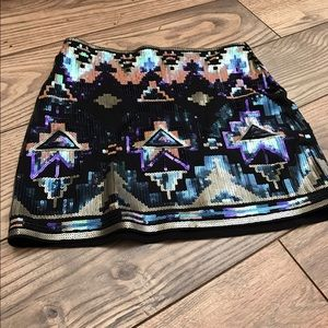 Express Dresses & Skirts - Brand new no tags sequence mini skirt