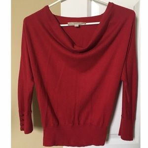Red LOFT Cowl Neck Sweater - XXSP