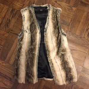 Asos faux fur vest