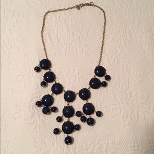Navy J.Crew bubble necklace
