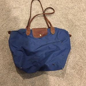 Authentic Longchamp Blue tote bag