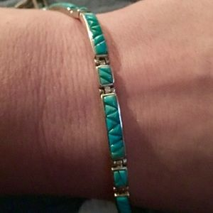 Zuni Turquoise and Silver bracelet
