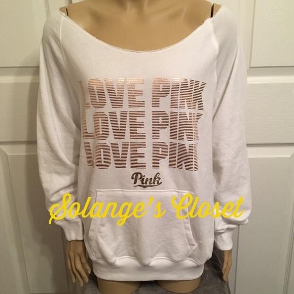 PINK Victoria's Secret - VS PINK ROSE GOLD OFF THE SHOULDER ...