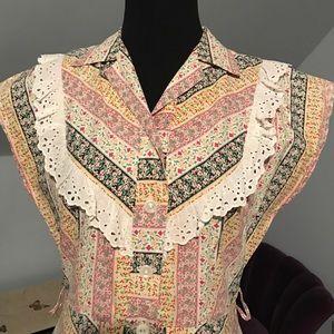 Stunning button front vintage dress